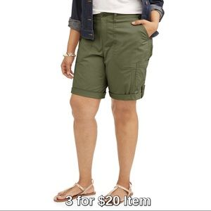 Pants - Plus Size | Cargo Shorts, Army Green